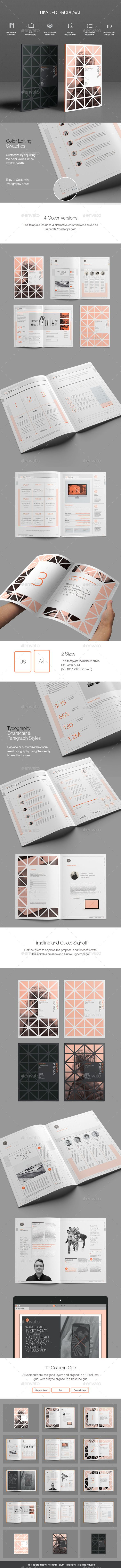 Divided proposal template proposal templates proposals and brochures divided proposal template accmission Gallery