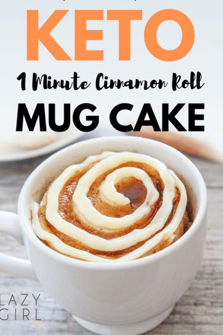 4 net carb low carb keto cinnamon roll mug cake