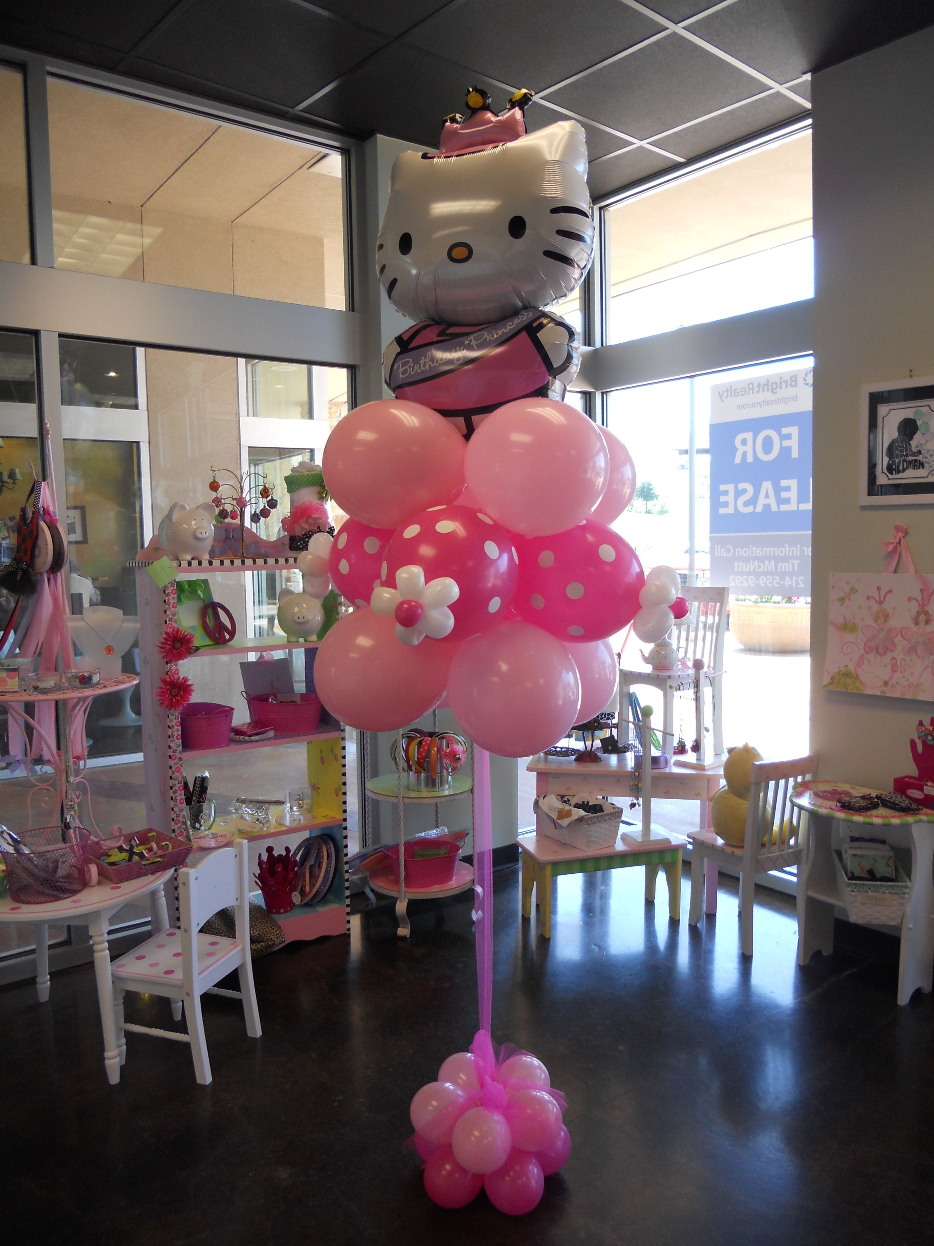 Hello Kitty Baby Shower Decorations : hello, kitty, shower, decorations, Floating, Column, Hello, Kitty, Theme, Party,, Birthday, Party
