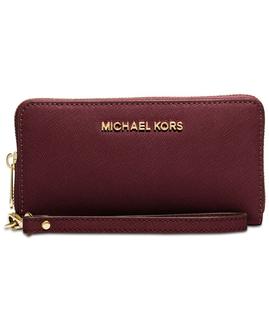 25bf9980e41c Michael Michael Kors Jet Set Travel Large Coin Multifunction Wallet ...