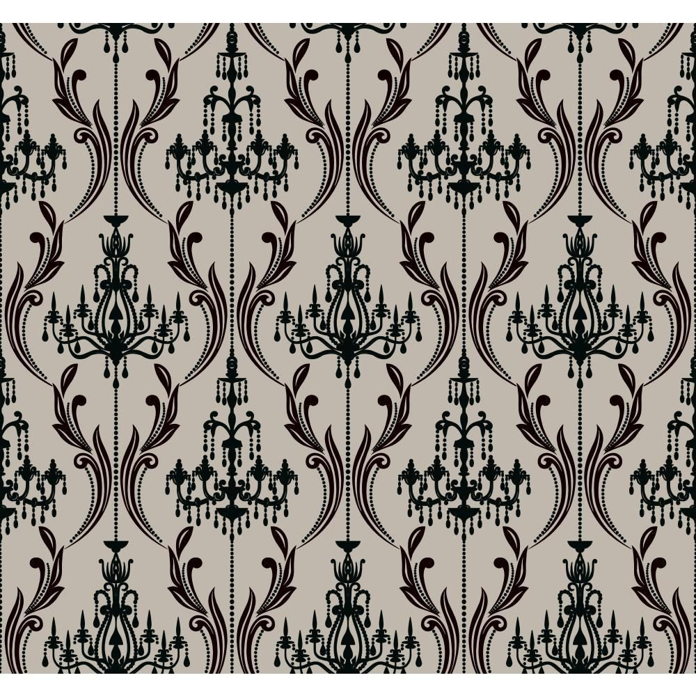 Brewster Campbell Scroll Peel And Stick Wallpaper Border Tfdb07502s Wall Borders Peel Stick Wallpaper Black Decor