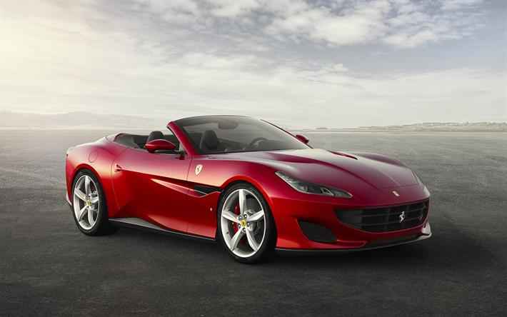 Download Wallpapers Ferrari Portofino 2018 Sport Car New Ferrari