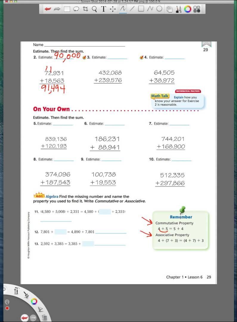 Go Math 4th grade lesson 1.6   Go math [ 1080 x 795 Pixel ]
