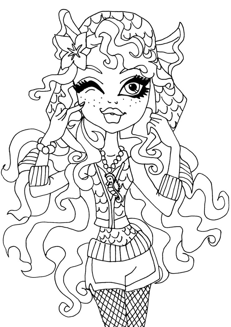 Pictures Monster High Lagoona Blue Coloring Pages | 00 | Pinterest ...