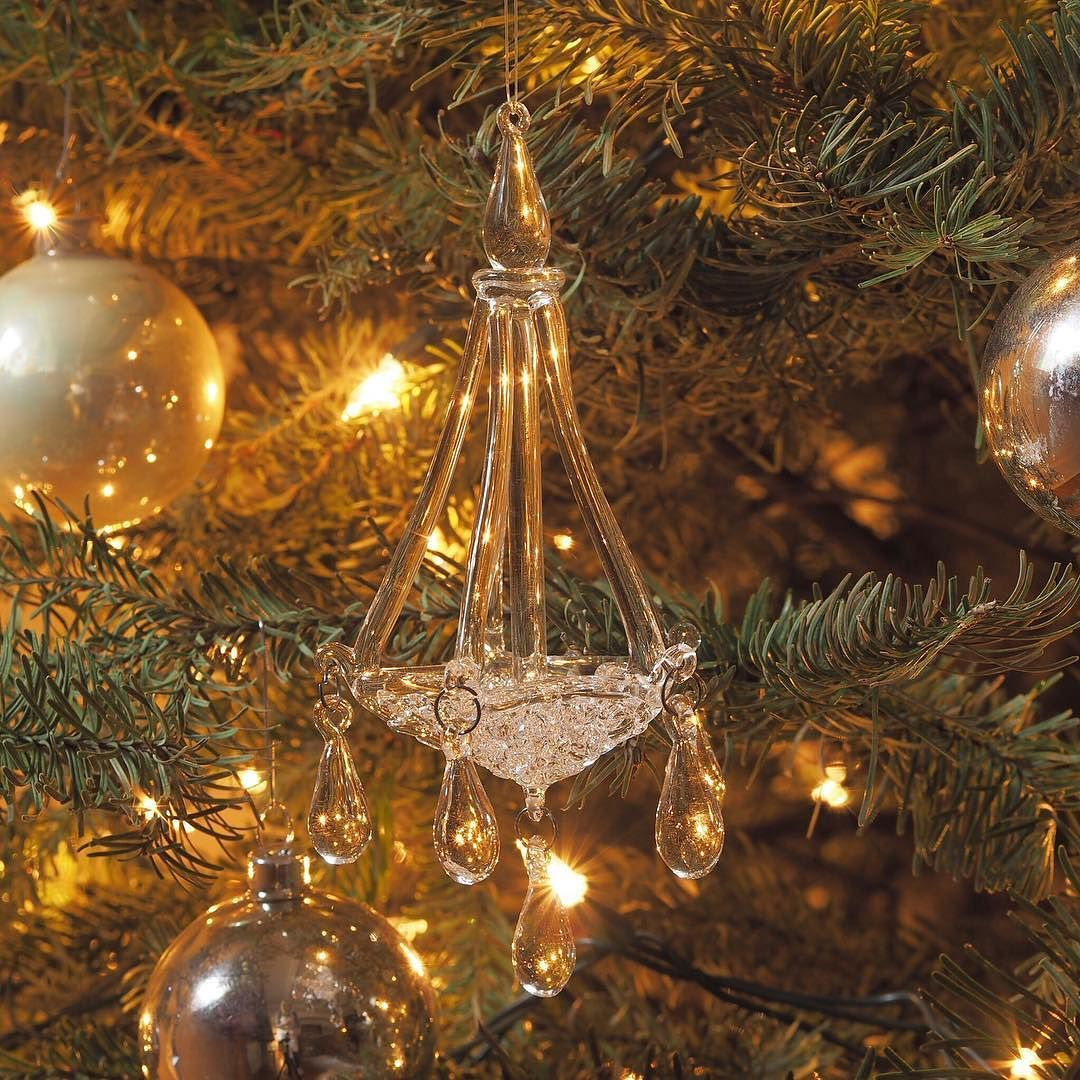 This is one of my favourite ornaments. It's a lovely little glass chandelier. It was a gift from dear friends and I always think of them when I look at it.