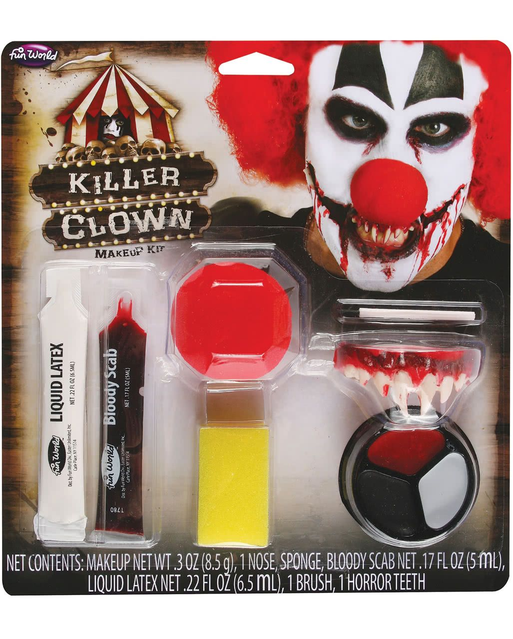 Horror Clown Makeup Kit 9tlg Clown makeup, Makeup kit