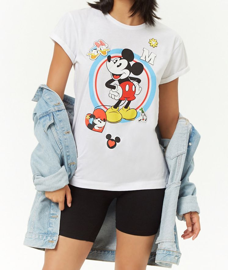 ef1e6423b13 Mickey Mouse Graphic Tee in White