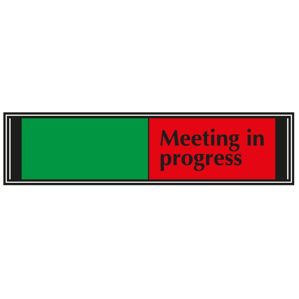 Meeting In Progress Sliding Sign For Doors G6db Vp Progress Door Signs Signs Meeting in progress door signs