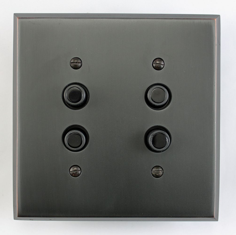 Four Way Push Button Light Switch Black Inlay Light Switch Dimmer Switch Three Way Switch