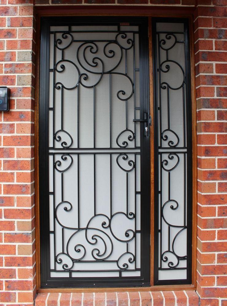 Black Birch White Cast Grill Security Door & Black Birch White Cast Grill Security Door | Home | Pinterest ...