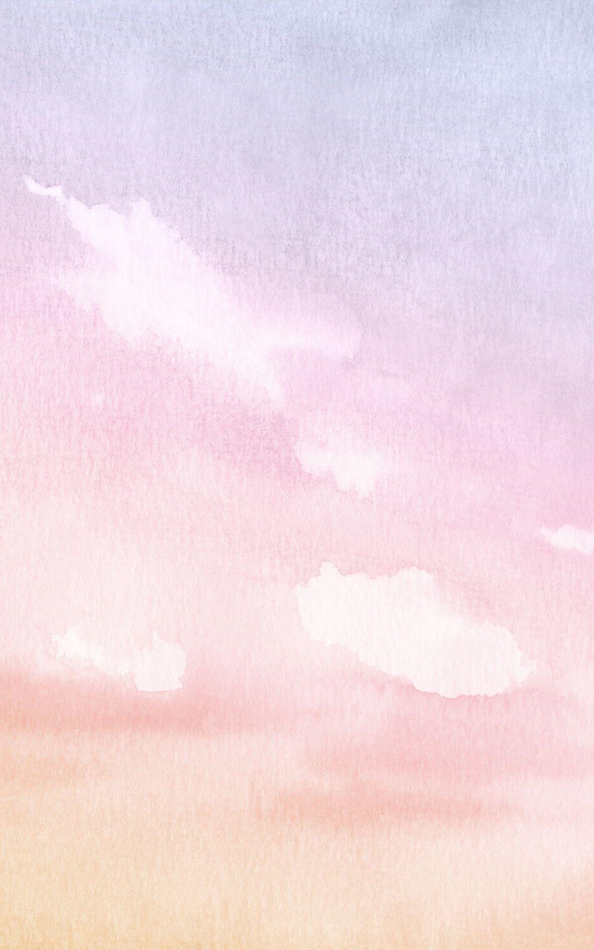 Pastel Watercolour Cloud & Sky Wallpaper Murals