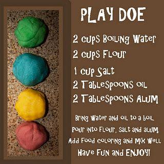 Homemade Play Doe Play Doe Diy Playdough Homemade Playdough Recipe