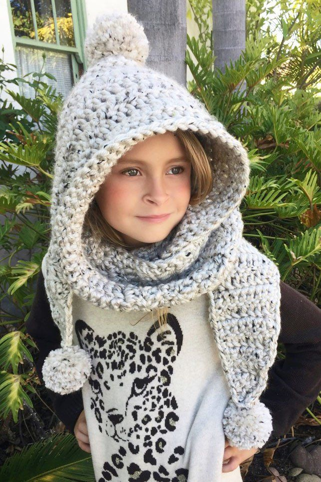 Hooded Scarf Crochet Pattern Chloe Hood Ava Girl Designs Crochet