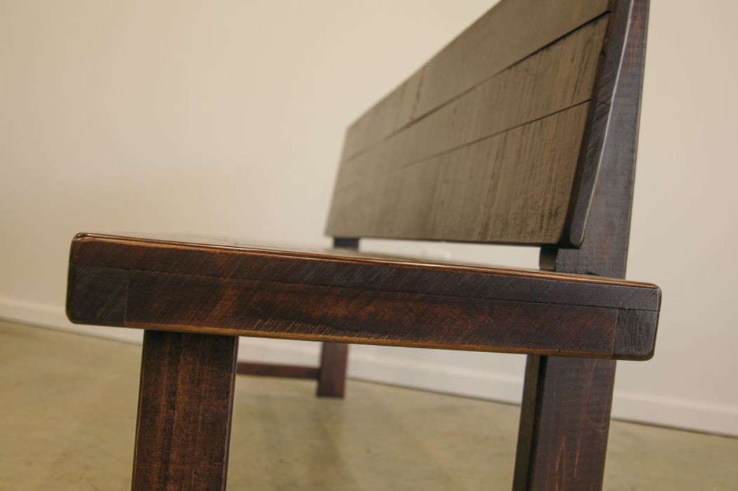 Brilliant A Handcrafted Bench With A Back Is The Perfect Seating Gmtry Best Dining Table And Chair Ideas Images Gmtryco