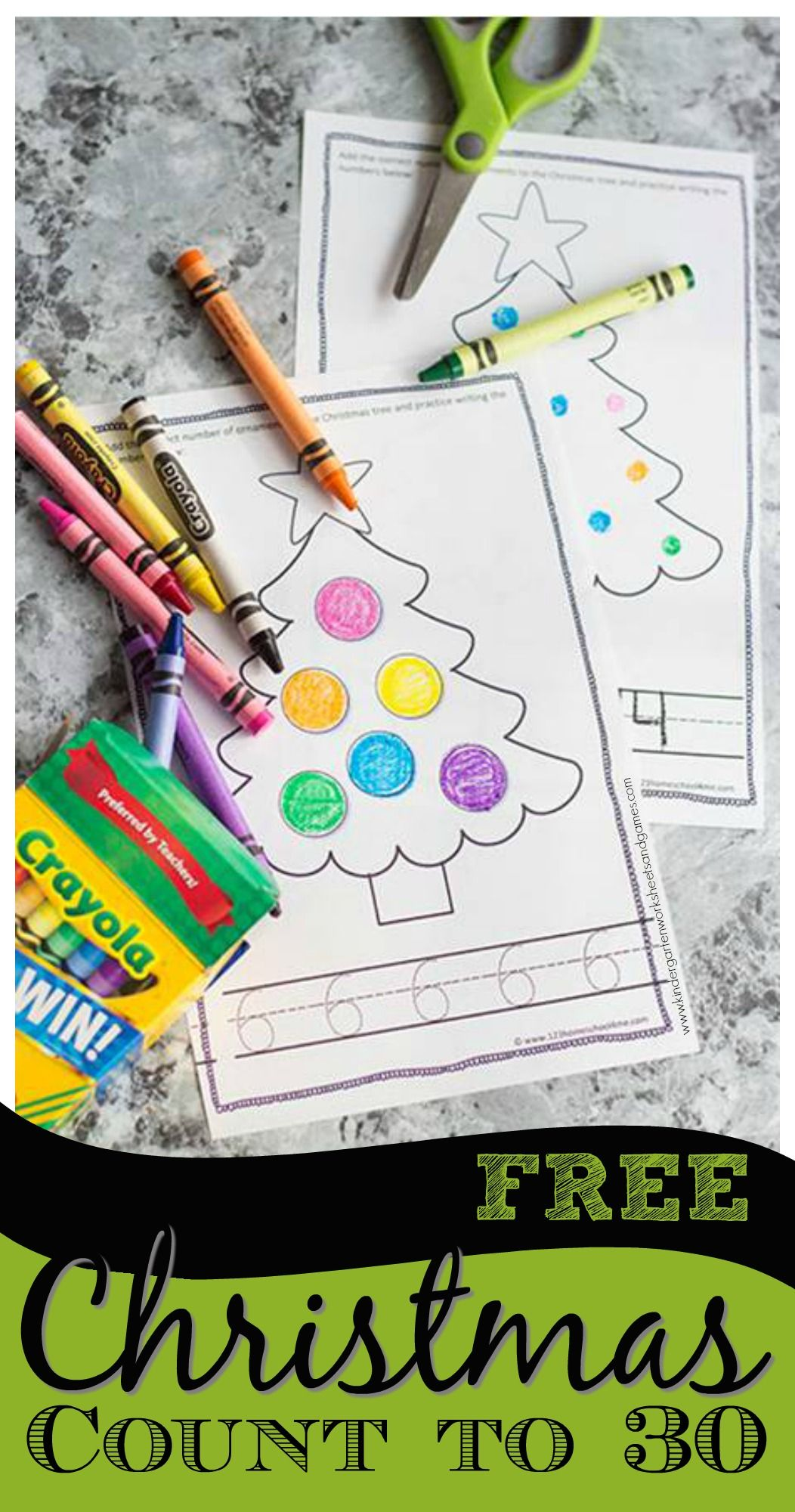 Free Christmas Counting Book
