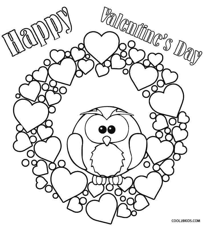 Printable Valentine Coloring Pages For Kids Cool2bKids Valentin