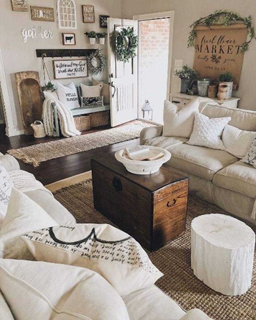 12 Cozy Farmhouse Living Room For Your Family's Warmth   DECOR ...