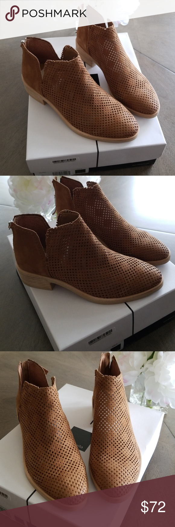 18586bafd051 Dolce Vita Tauris Perforated Bootie Perforations add breathability and a  cool