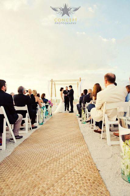 Rush Matting Aisle Runner Beach Perfect Wedding Beach Ceremony Beach Wedding Aisles Beach Wedding Photos