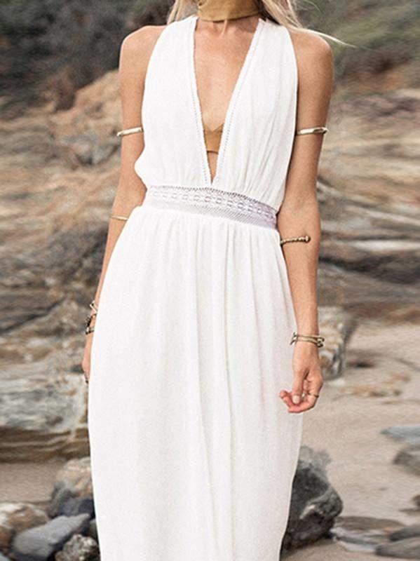 Vestido Boho com Renda Longo - Compre Online