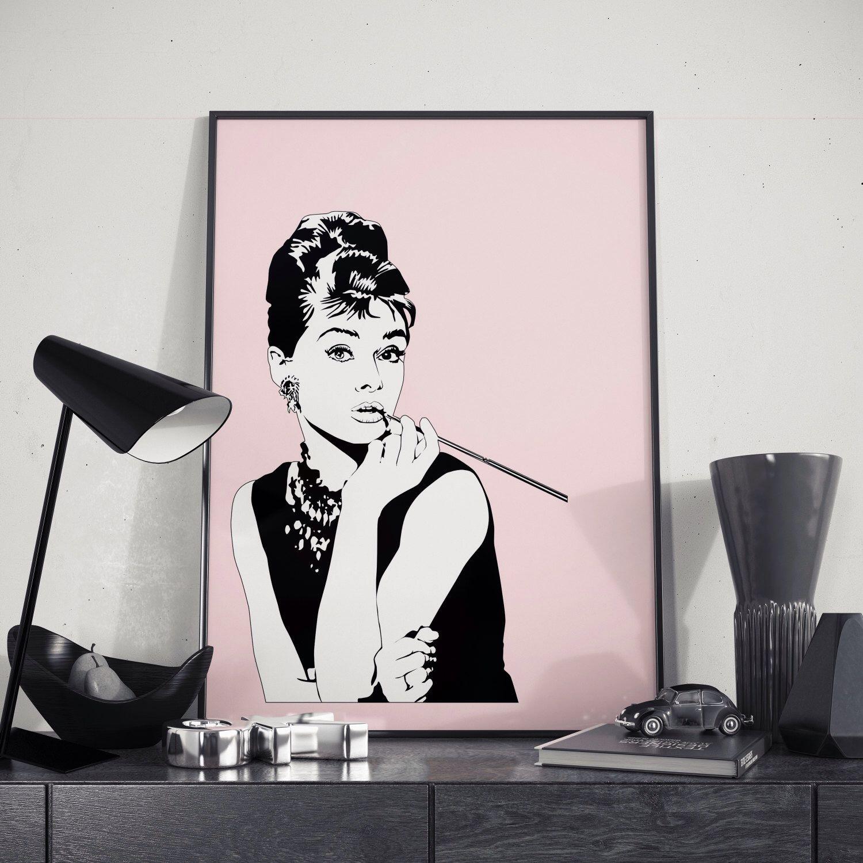 Fashion Wall Art Extraordinary Audrey Hepburn Poster Fashion Wall Art Fashion Poster Fashion Design Inspiration