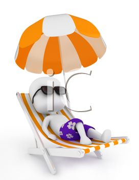 3d illustration of a man relaxing on a beach chair summer 3d illustration of a man relaxing on a beach chair voltagebd Gallery