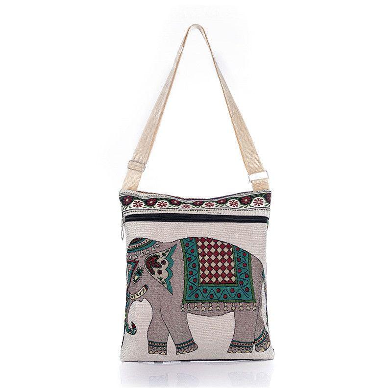 Linda Bolsa Vintage Elefante    Tamanho: 31CM x 28CM