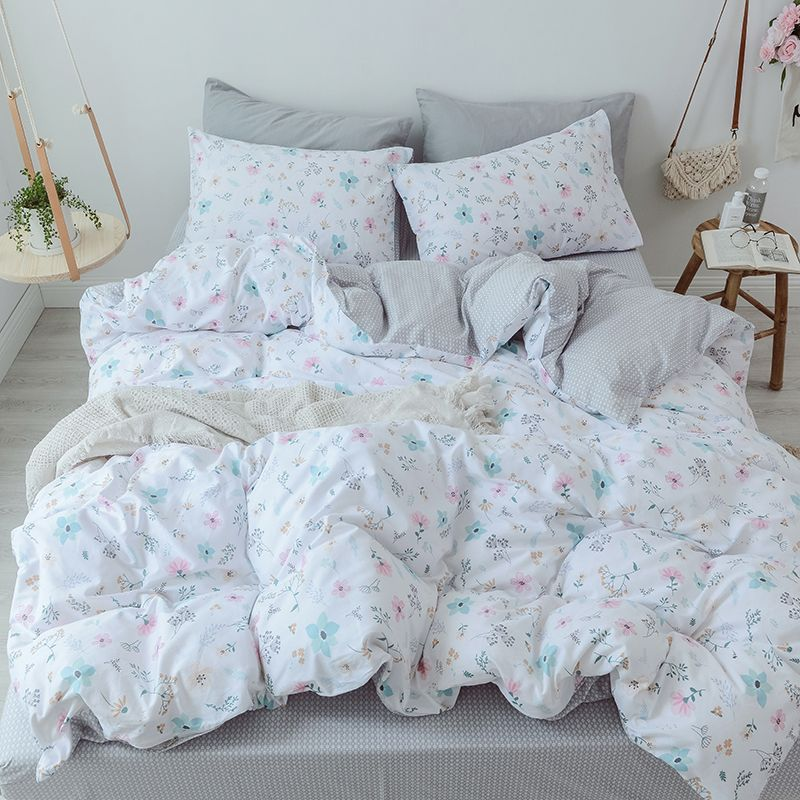 Flower Print Bedding Queen Bed Sheet Set King Size Bed Sheet Sets Pillow Case Cotton Bedding Sheets Bed Co Queen Bed Sheets Bed Sheet Sets King Size Bed Sheets