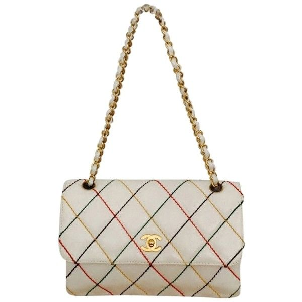 9780b395922b Pre-owned White Chanel Shoulder Bag (€1.390) ❤ liked on Polyvore ...