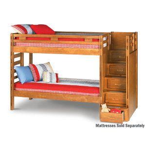 Twin Step Bunk Bed Youth Bedroom Bedrooms Art Van Furniture