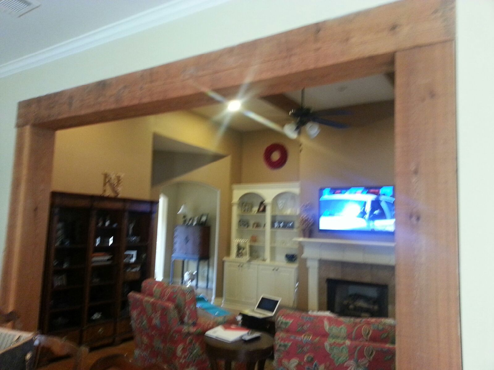 Rustic Wood Beam Trim Wall Opening For My Homeif Only I Were Rich Wood Trim Home Decor