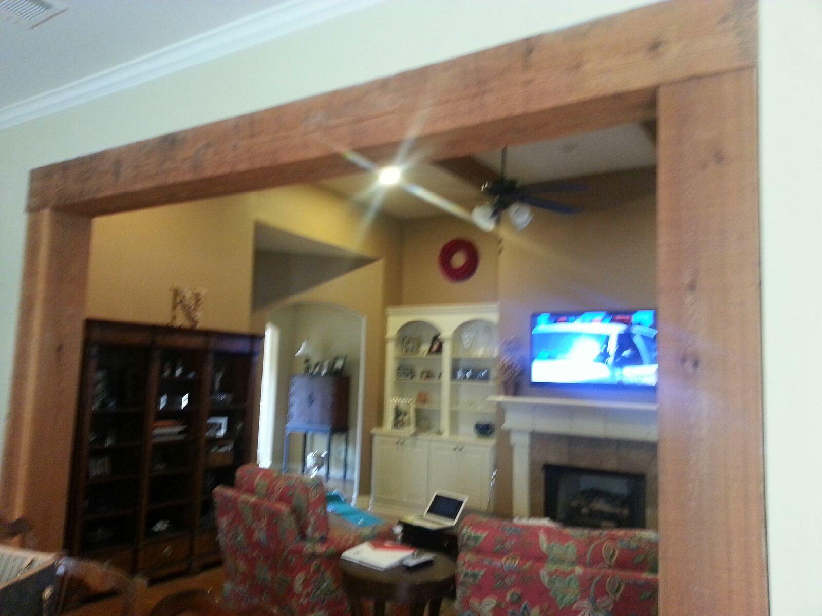 Rustic Wood Beam Trim Wall Opening Home