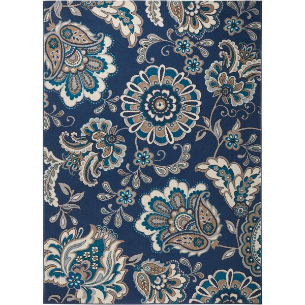 Enliven Your Floors With This Rug S Floral Motif The Tone