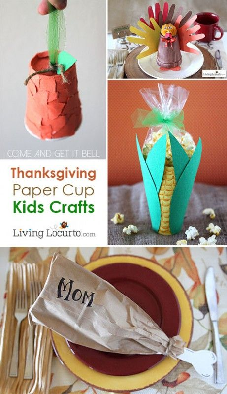 10 Easy Thanksgiving Kids Crafts With Paper Cups Fall Pinterest
