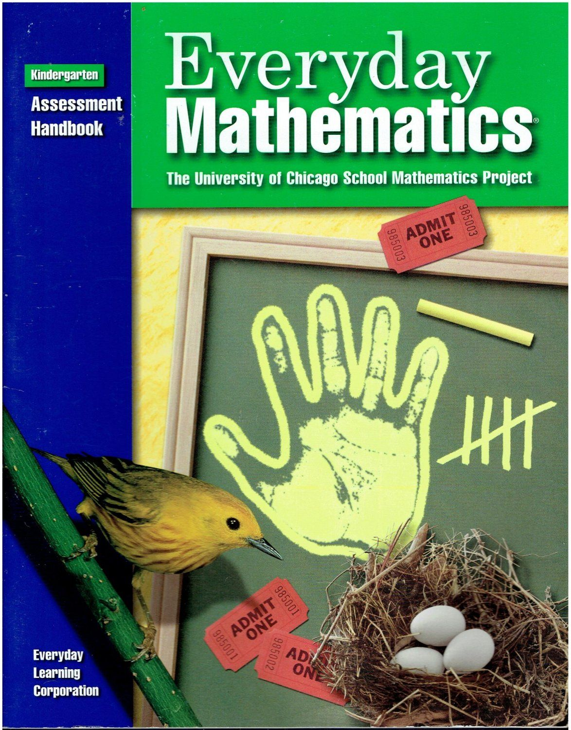 Everyday Mathematics K Assessment Handbook ©2001 kindergarten math ...