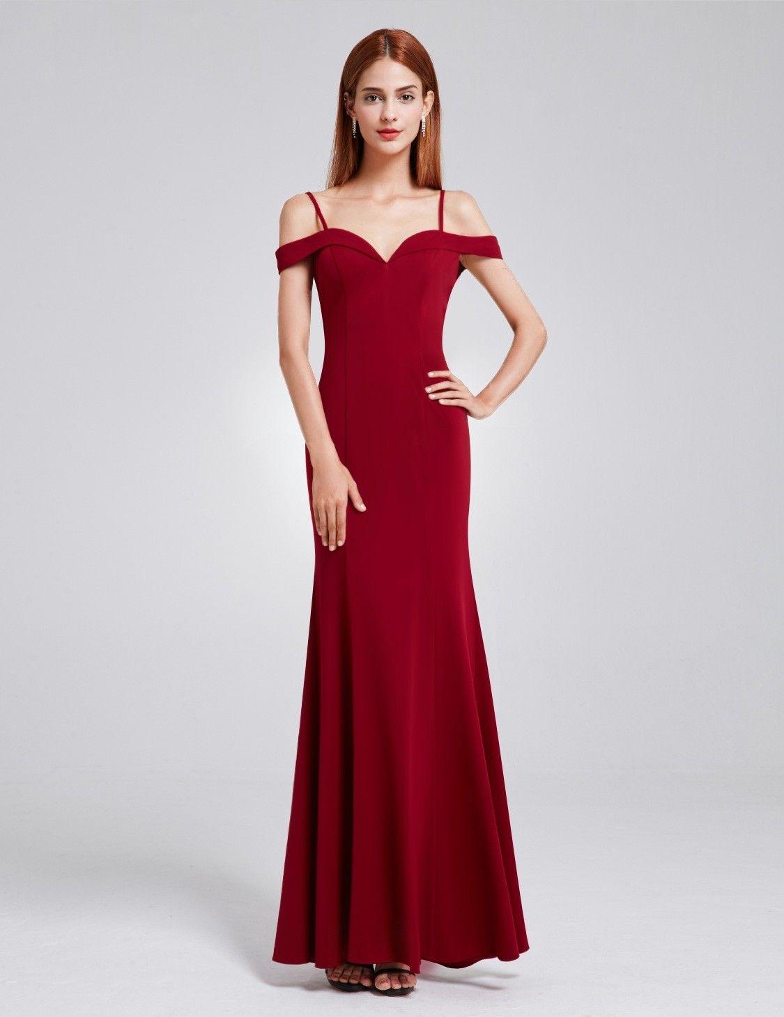 OfftheShoulder Sweetheart Neckline Dress Burgundy
