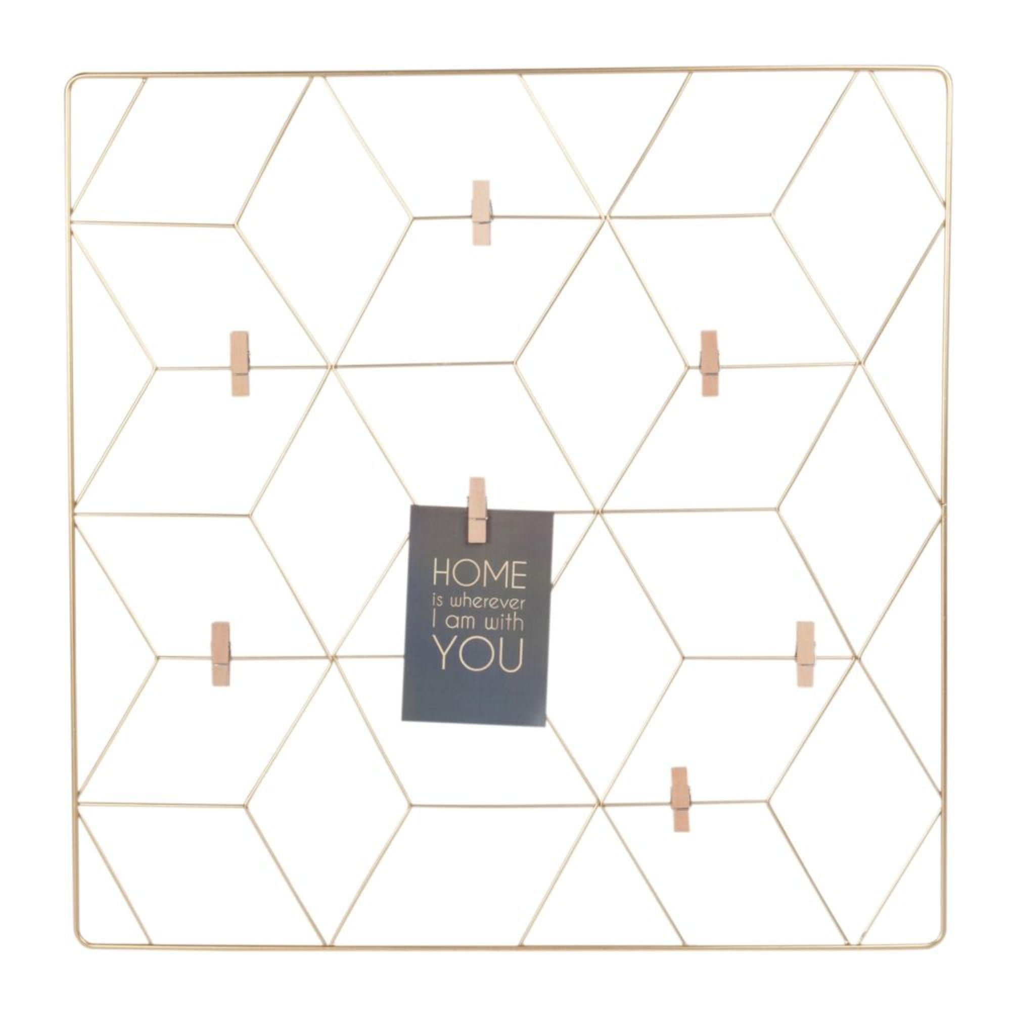 Gold Metal Photo Montage Frame 60x60 In 2020 Simple Geometric Designs Simple Geometric Pattern Geometric Decor