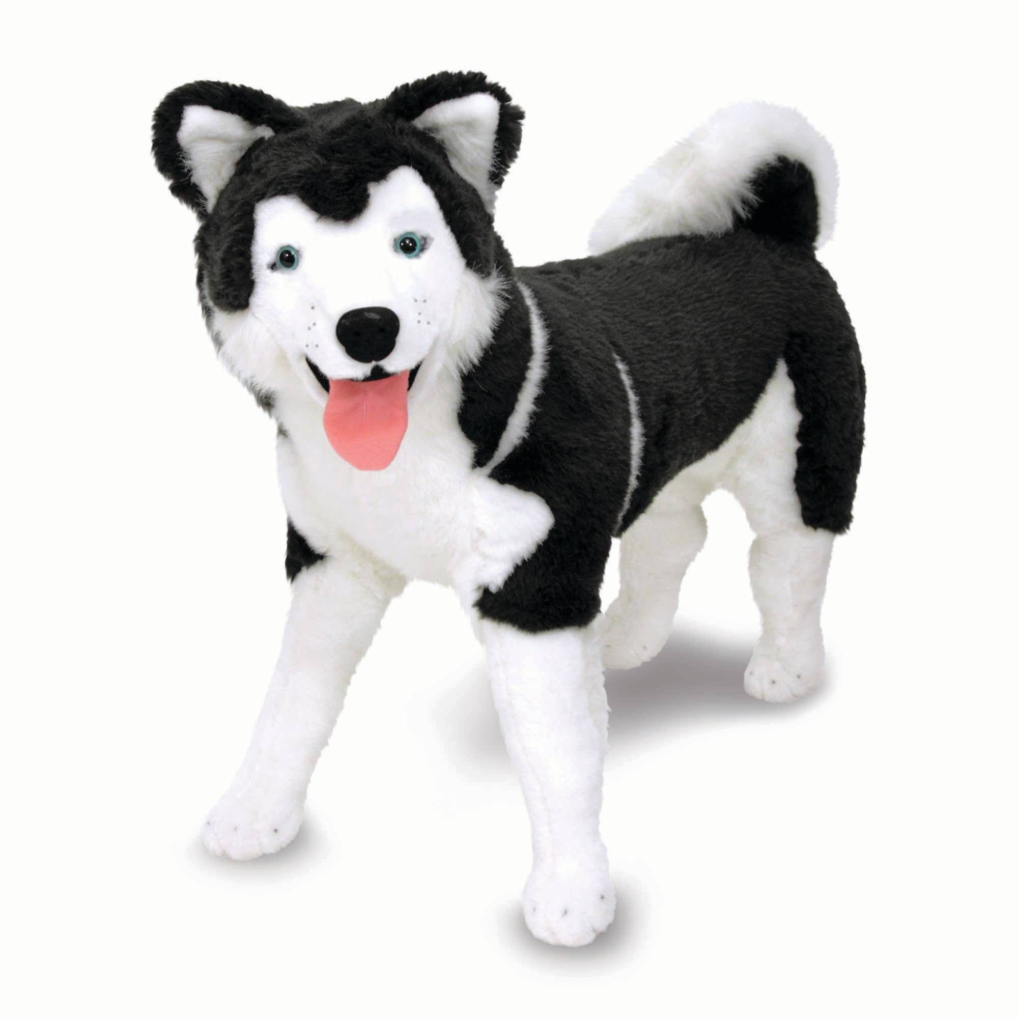 Melissa Doug Giant Siberian Husky Lifelike Stuffed Animal Dog