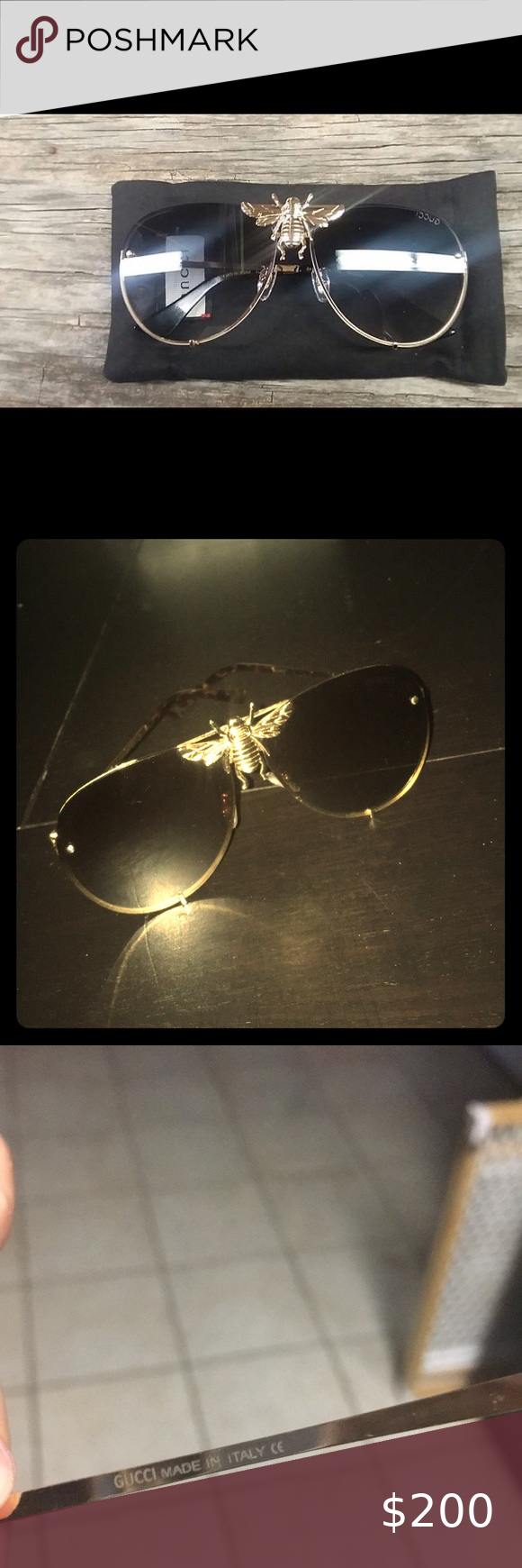 Gucci I Ll Be Rich Forever Sunglasses Brown And Gold Gucci Sunglasses As Seen On Artists Like Rick Ross Snoop Gucci Sunglasses Accessories Gucci Sunglasses