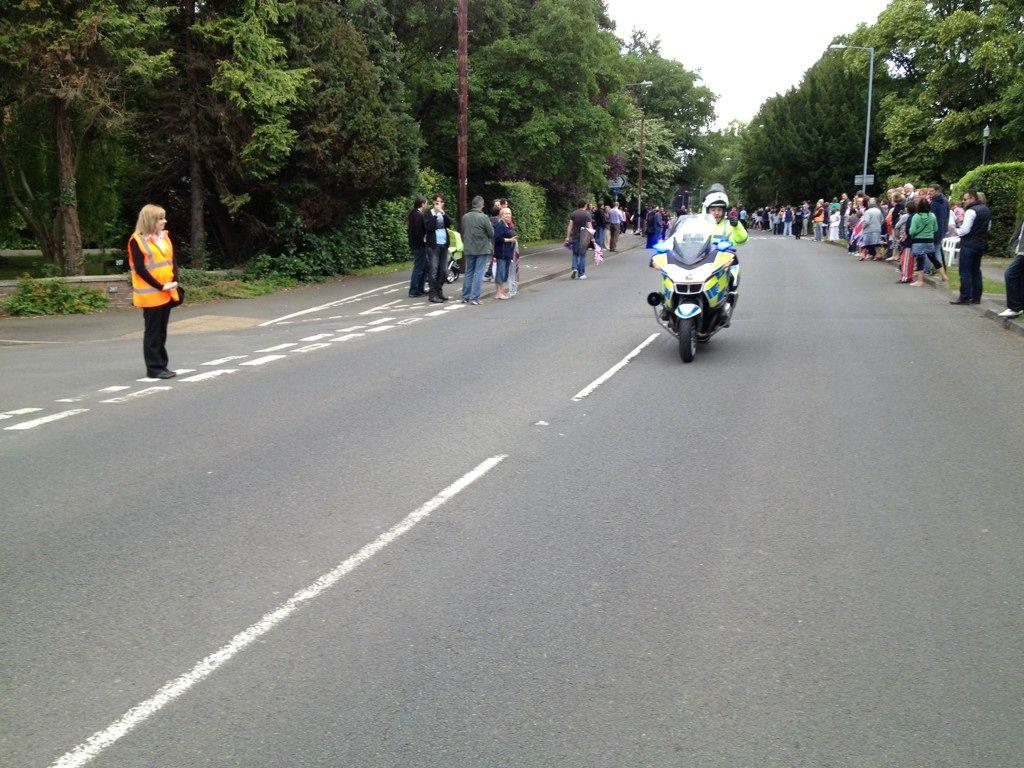 Police outrider (via Jo)