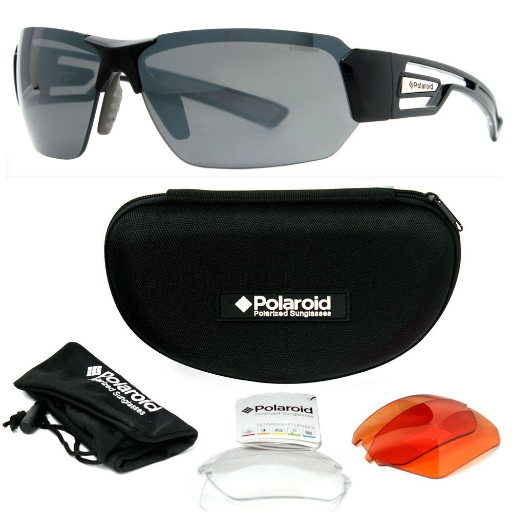 b31f50794e6 Polaroid 7422 s Men s Polarized Sports Sunglasses w  Interchangeable Lenses   POLAROID  Sport