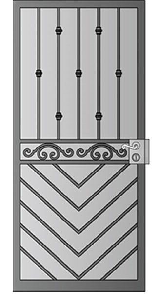 Whiting Iron offers custom design and fabrication of quality gates fencing railings doors etc at competitive prices.  sc 1 st  Pinterest & Security Screen Doors : Great Gates and Whiting Iron in Phoenix AZ ... pezcame.com