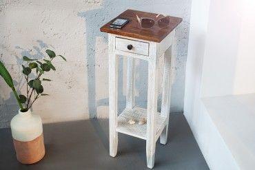 Edler Telefontisch LA FLEUR Teak Antik Landhaus Shabby