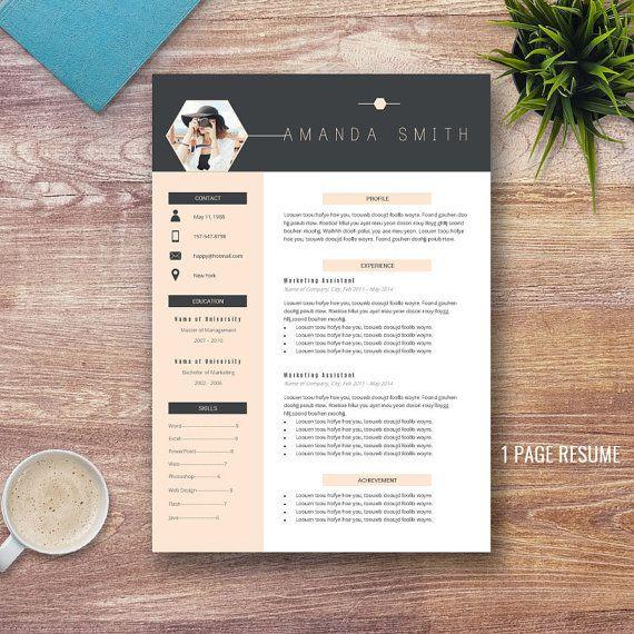 professional resume template bundle  cover letter  cv
