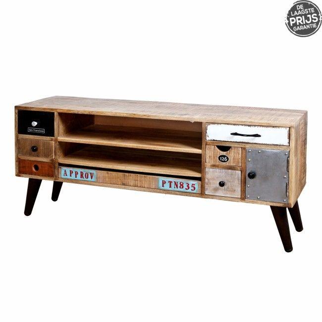 Tv Meubel Vintage.Vintage Tv Meubel Google Zoeken Furniture Industrial Tv Unit Tvs