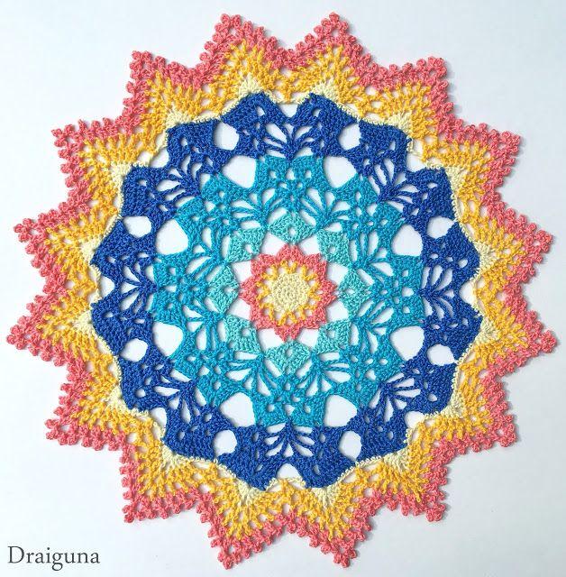 Solar Brilliance - free crochet doily pattern by Julia Hart at ...
