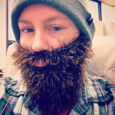 Child or Adult Long Fuzzy Beard In CHOICE OF COLOR Hand Crochet, Beard and Mustache Only - Use With #crochetedbeards