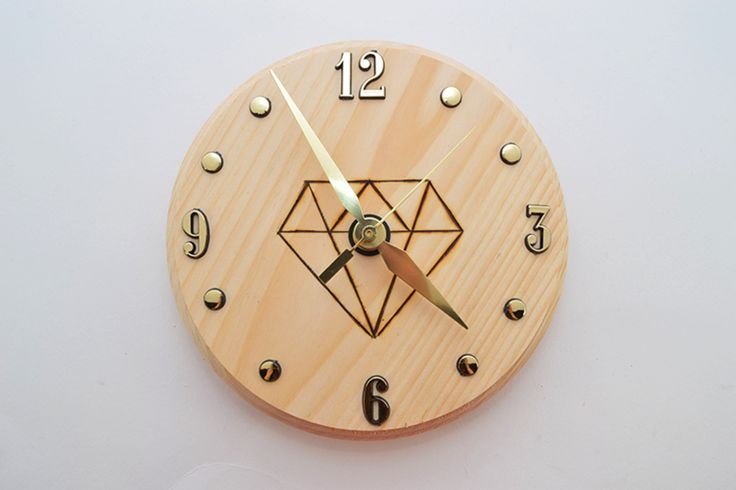 diamond woodburned clock 12 the timeless timekeeper learn how to create your own clock in this diy