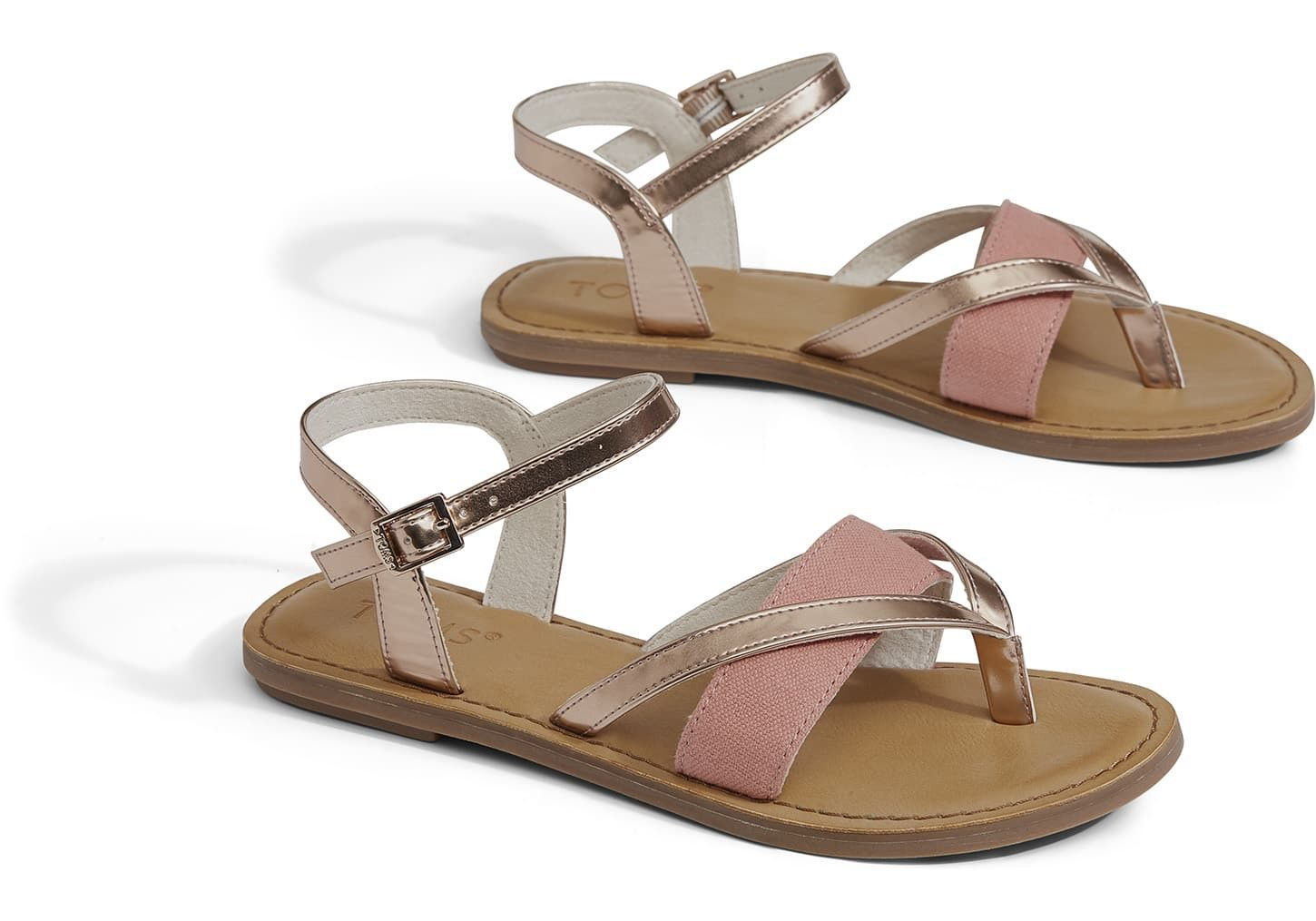 c1fc097eb2bf TOMS Rose Gold Specchio Women s Lexie Sandals by TOMS