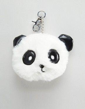 New Look Panda Fur Pom Pom Keychain  14256a06f